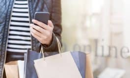 Shopping and Using Phone